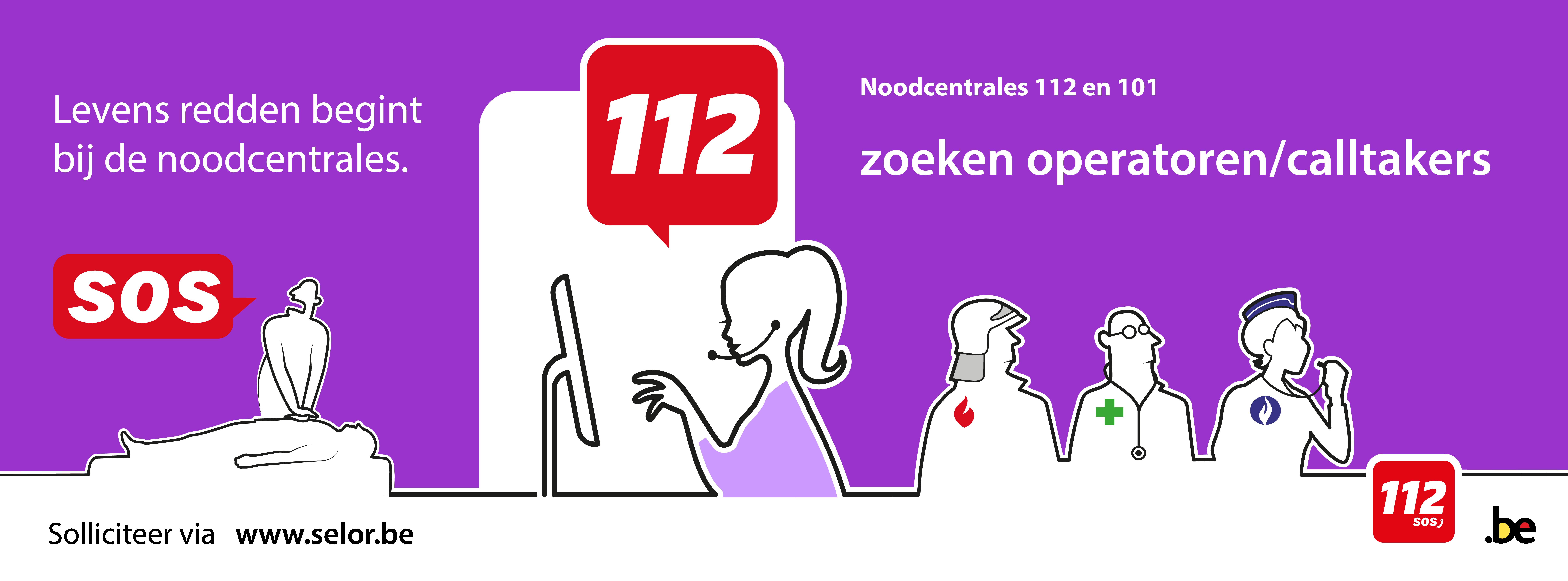 Noodcentrales 112 en 101 zoeken operatoren/calltakers