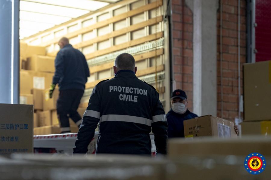 Civiele Bescherming begonnen om 5.000.000 mondmaskers te vervoeren
