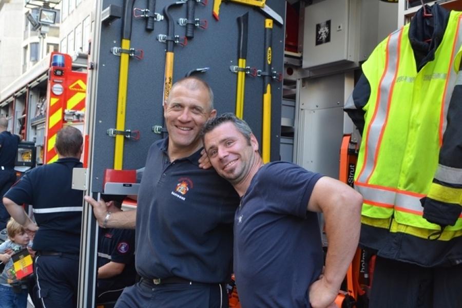 Hulpverleningszone Luxemburg in de Regentschapstraat in Brussel tijdens de Natio