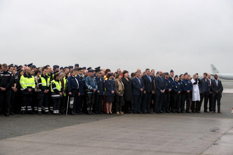 Ceremonie ter erkenning van de hulpdiensten