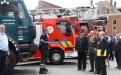 Passage en revue des troupes - Protection civile (Photo : Dirk Janssens)