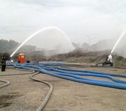 Brand in einem Recyclingunternehmen in Brügge