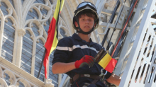 Jeune sapeur-pompier au 21 juillet 2013